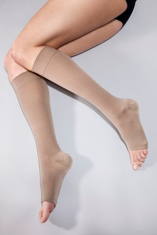 compression hosiery beige