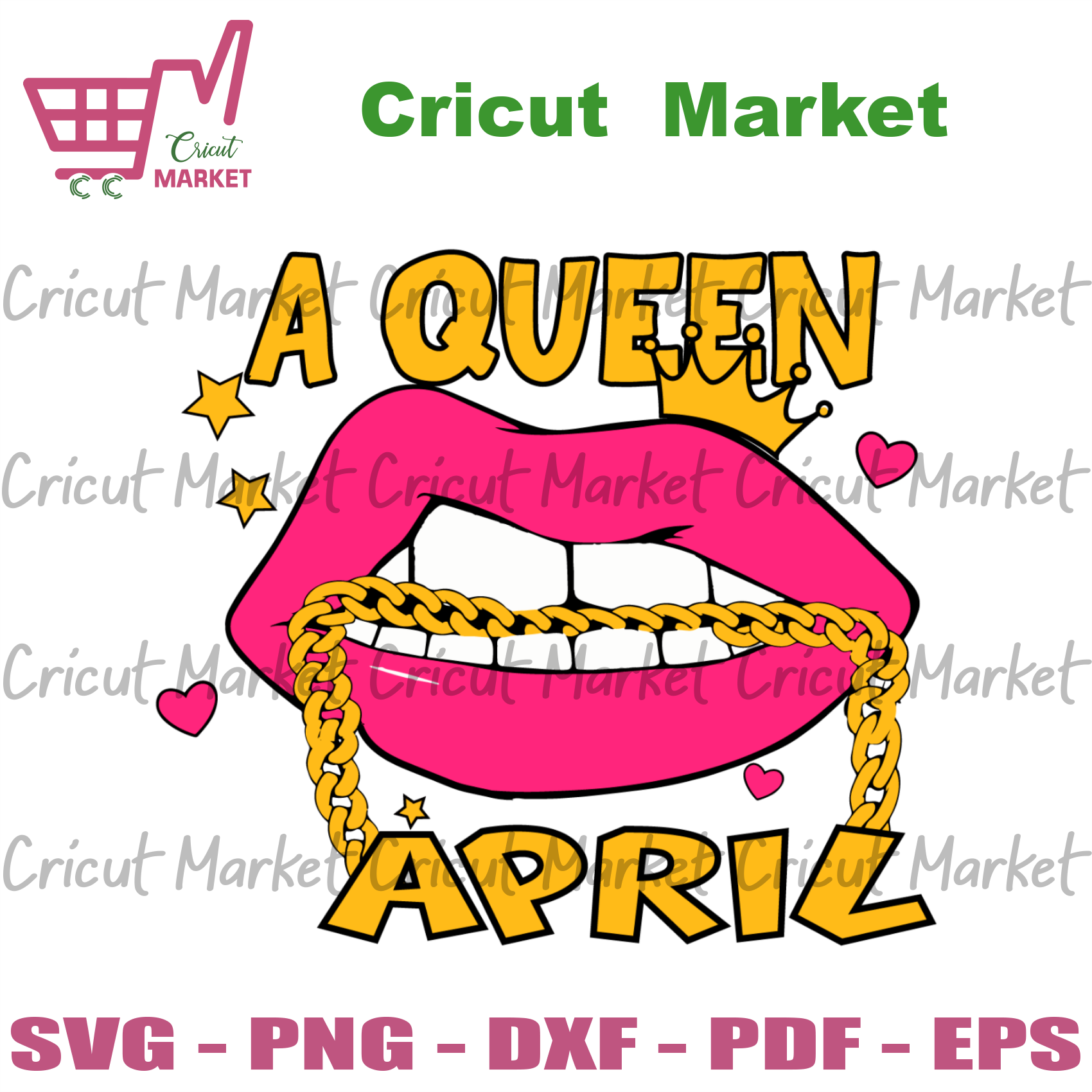 A Queen April Svg, Birthday Svg, April Queen Svg, Birthday Girl Svg, Girl Born In April Svg, April Svg, Lips Svg, Sexy Lips Svg, Queen Svg, Birthday Girl Svg, Girl Gift Svg, Birthday Gift Svg