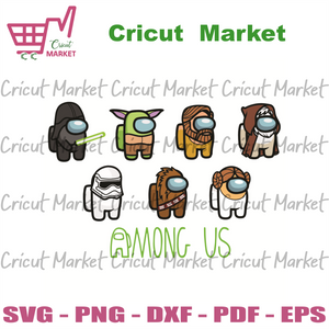Among Us Custom Svg, Trending Svg, Among Us Star Wars Svg, Among Us Svg, Among Us Impostor Svg, Impostors Svg, Among Us Funny Svg, Trending Video Game Svg, Among Us Svg, Video Game Svg, Star