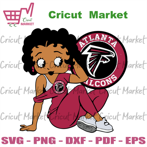 Atlanta Falcons Betty Boop Svg, Sport Svg, Atlanta Falcons Football Team Svg, Atlanta Falcons Svg, Atlanta Falcons Fans Svg, Betty Boop Svg, Falcons Lovers Svg, Football Svg, Football Fans Sv