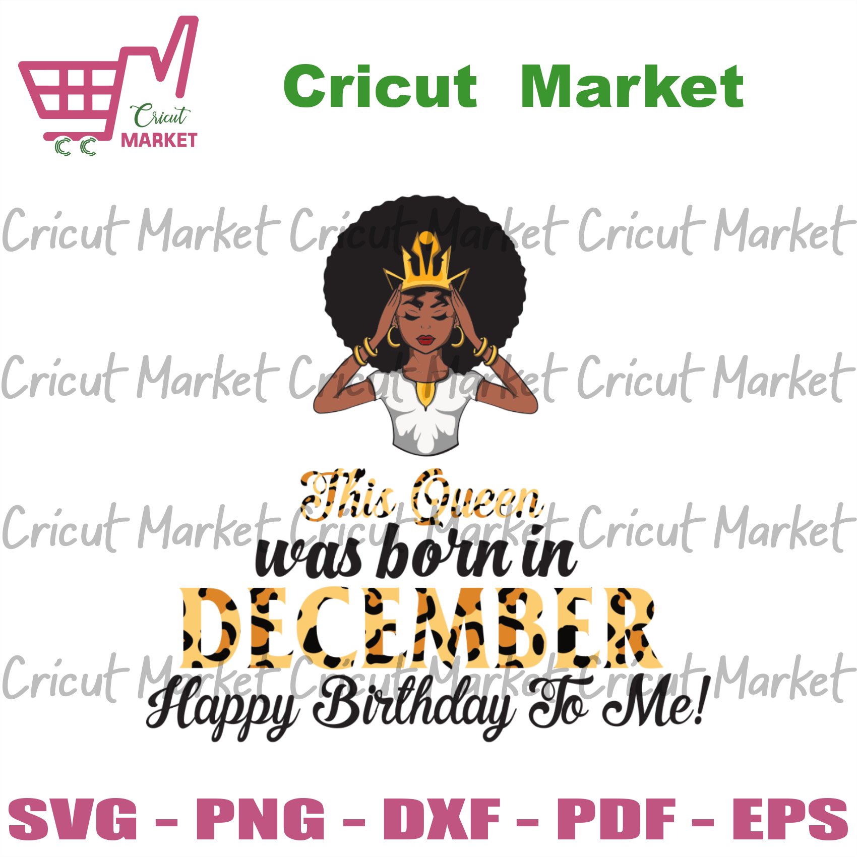 This Queen Was Born In December, Birthday Svg, December Birthday Svg, December Queen Svg, Birthday Black Girl, Black Girl Svg, Born In December, December Black Girl, Black Queen Svg - Cricut