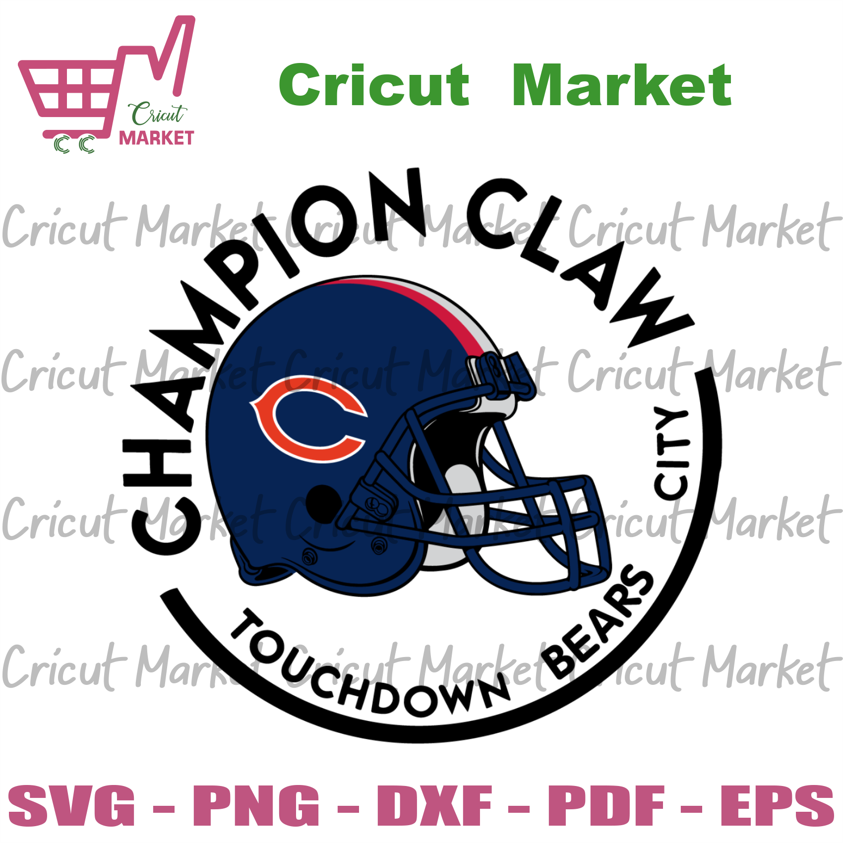 Champion Claw Touchdown Bears City Svg, Sport Svg, Chicago Bears Svg, Chicago Bears Football Team Svg, Chicago Bears Helmet Svg, Chicago Bears Logo Svg, Chicago Bears Fans, Bears Gifts Svg, C