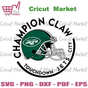 Champion Claw Touchdown Jets City Svg, Sport Svg, New York Jets Svg, New York Jets Football Team Svg, New York Jets Helmet Svg, New York Jets Logo Svg, New York Jets Fans, New York Jets Gifts
