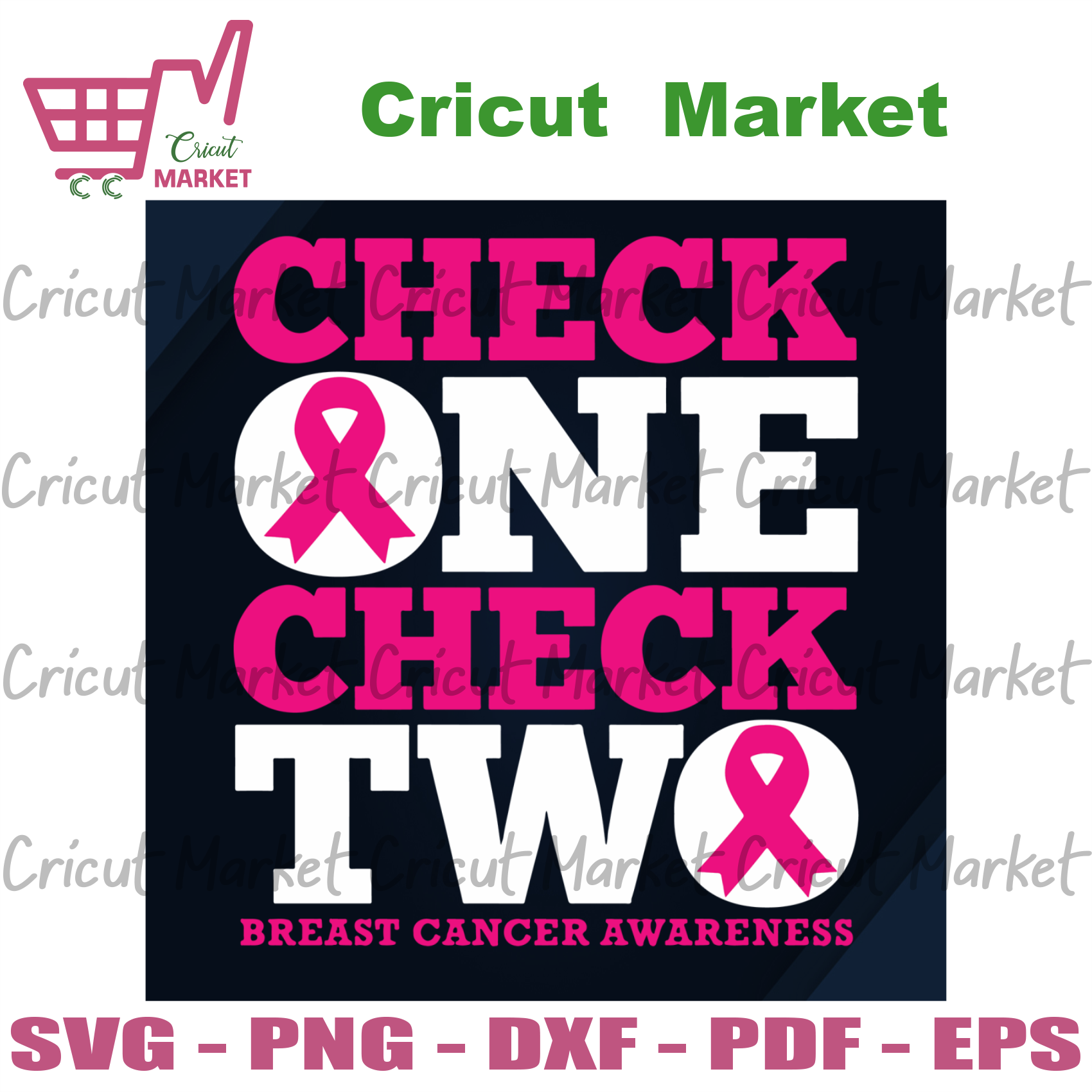 Check One Check Two, Breast Cancer Svg, Breast Cancer Gift, Cancer Awareness, Cancer Ribbon Svg, Breast Cancer Ribbon, Breast Cancer Anniversary, Breast Cancer Ribbon Print, Ribbon Svg, Pink