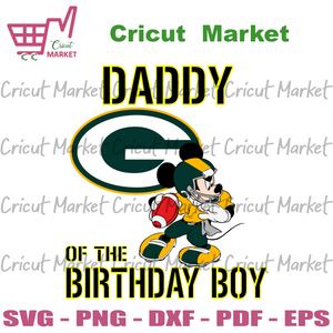 Daddy Of The Birthday Boy Green Bay Packers Svg, Sport Svg, Birthday Svg, Green Bay Packers Svg, Birthday Boy Svg, Daddy Svg, Happy Birthday Svg, Packers Svg, Packers Lovers Svg, Packers Foot