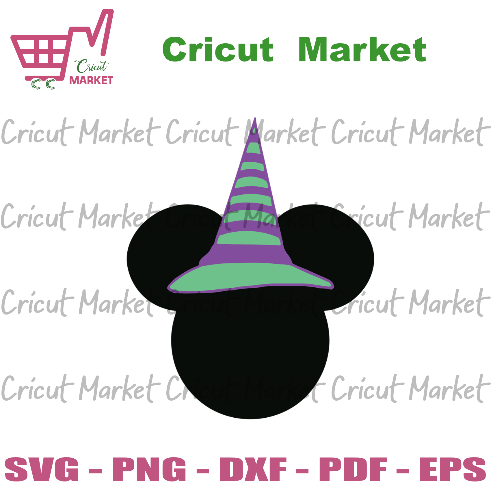 Halloween Mickey witch Svg, Halloween Svg, Mickey witch Svg, Mickey mouse vector clipart, witch gift, witch svg, Mickey vector, Mickey Halloween svg - Cricut Market