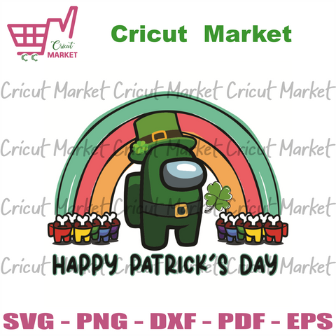 Happy Patrick Day Among Us Svg, Patrick Svg, Among Us Svg, Happy Patrick Day Svg, Impostors Svg, Crewmates Svg, Among Us Game Svg, Patrick Hats Svg, Sus Svg, Patrick Day Svg, Patrick Gifts Svg, Patrick Party Svg, Patrack Holiday Svg