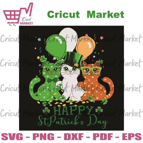 Happy St Patrick Day Svg, Patrick Svg, Cats Svg, Patrick Party Svg, Patrick Cats Svg, Patrick Shamrocks Svg, Shamrocks Svg, Lucky Charms Svg, Lucky Svg, Charms Svg, Cute Cats Svg, Patrick Party Svg, Patrick Day Svg, Patrick Gifts Svg