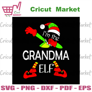 Im the grandma elf, christmas svg, xmas svg, elf svg, grandma svg, grandma elf svg, grandmother elf svg, elf hat svg, elf socks svg, elf shirt svg, elf lovers, cool elf svg, funny elf svg - C