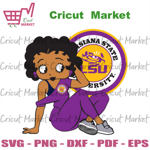Louisiana State University, Sport Svg, Louisiana State University Betty Boop, Betty Boop Svg, Sexy Betty Boop Svg, Betty Boop Gift, Bundle Nfl Team Svg, Ncaa Team Svg, Football Team Logo Svg,
