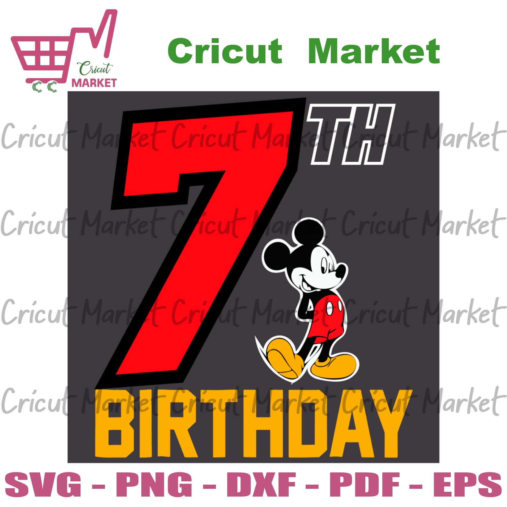 Mickey 7th Birthday Svg, Birthday Svg, 7th Birthday Svg, 7 Years Old Svg, Mickey Svg, Mickey Birthday Svg, 7 Years Old Girl Svg, 7 Years Old Boy Svg, Birthday Gifts Svg, Birthday Party Svg, H
