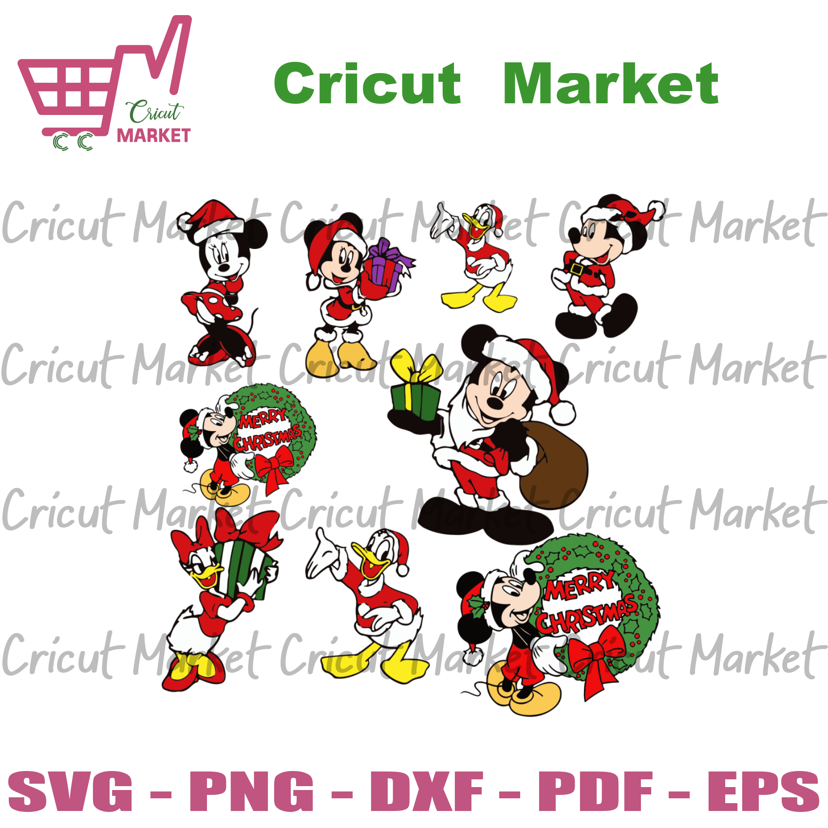Mickey donald bundle, christmas svg, donald svg, mickey santa svg, mickey mouse, mickey svg, disney mickey, disney svg, minni svg, christmas mickey, christmas donald, donald duck svg - Cricut