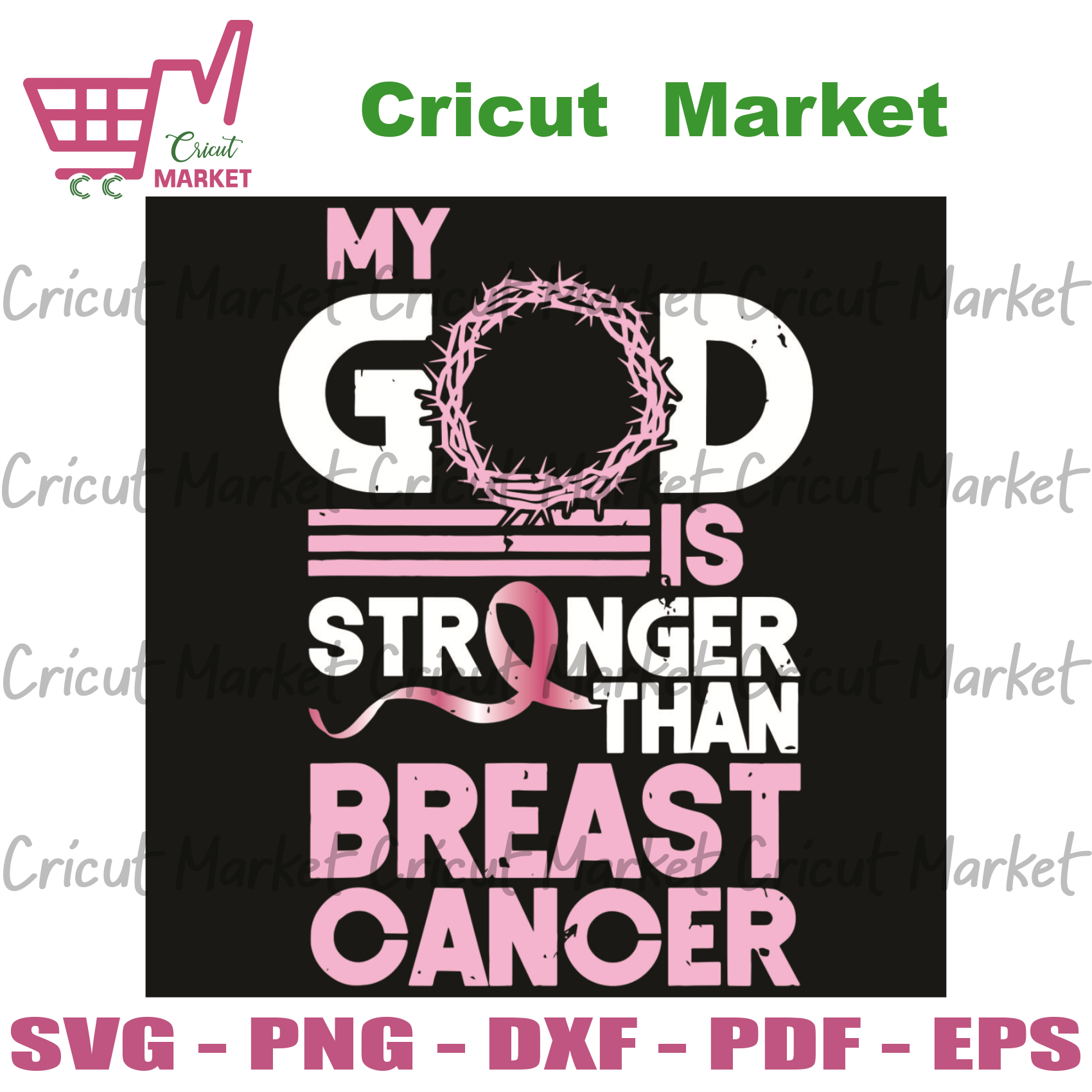 My God Is Stronger Than Breast Cancer Svg, Trending Svg, My God Svg, Stronger Svg, Breast Cancer Svg, Best Cancer Awareness Svg, Cancer Svg, Breast Cancer Gift, Funny Cancer Gift, Cancer Surv