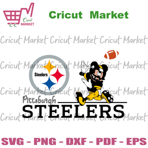 Pittsburgh Steelers Mickey Svg, Sport Svg, Pittsburgh Steelers Svg, Pittsburgh Steelers Football Team Svg, Mickey Svg, Pittsburgh Steelers Logo Svg, Pittsburgh Steelers Fans Svg, Mickey Footb
