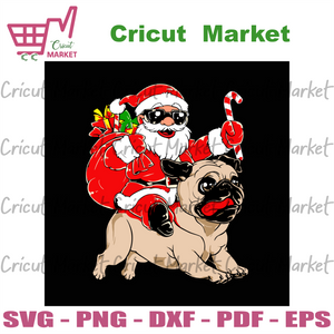 Santa with bulldog, christmas svg, xmas svg, bulldog svg, christmas bulldog, santa svg, santa claus svg, puppy svg, christmas dog, dog svg, santa gift bag, cool santa svg, bulldog puppy, ridi