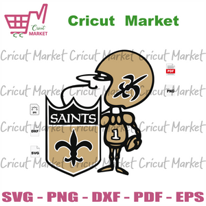 Warrior Saint, Sport SVG, New Orleans Saints Logo Svg, New Orleans Saints Football, New Orleans Saints Shirt, Football Mom, Football Lover Gift, Nfl Saints Svg, Saints Football Svg File, Sain