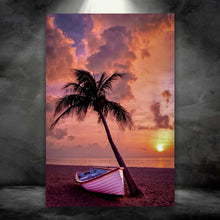 Load image into Gallery viewer, Boat Against a Palm Tree