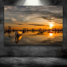 Load image into Gallery viewer, Boat and Reflection at Golden Hour