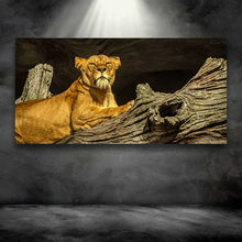 Load image into Gallery viewer, Female Lion on a Log