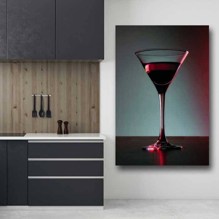 Martini Glass with Wine