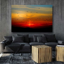 Load image into Gallery viewer, Silhouette of Birds at Sunset