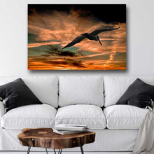 Load image into Gallery viewer, Pelican Soaring into Sunset