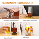 Portable Glass Stainless Steel Tea Filter Water Bottle