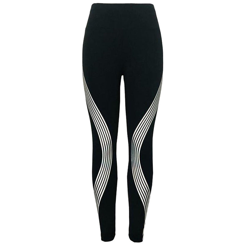 Reflective Swirl Rainbow Fitness Athletic Leggings