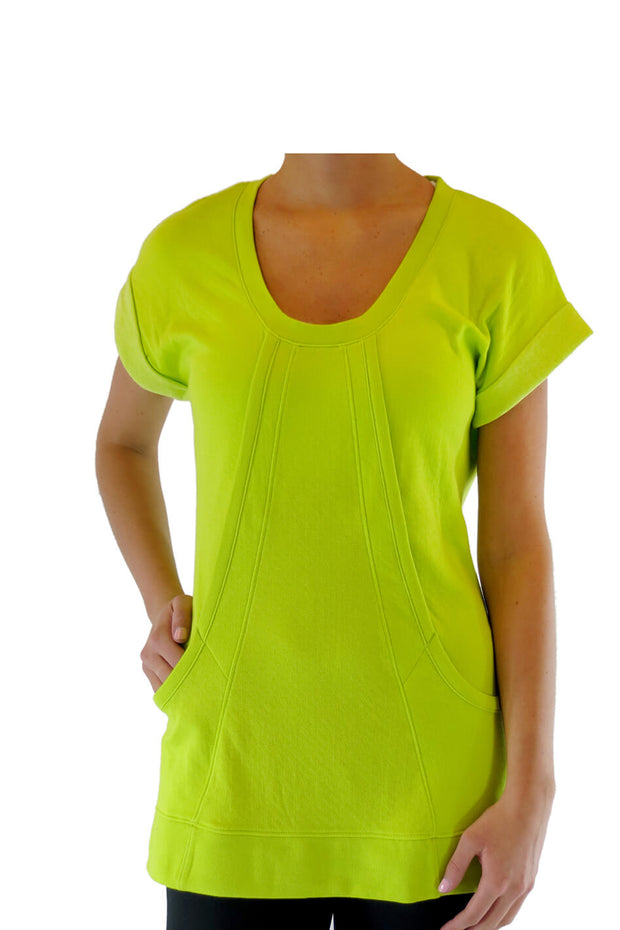 Short Sleeve Scoop Neck Tunic