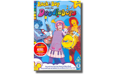 Rock and Bop with the Doodlebops DVD's as Gaeilge