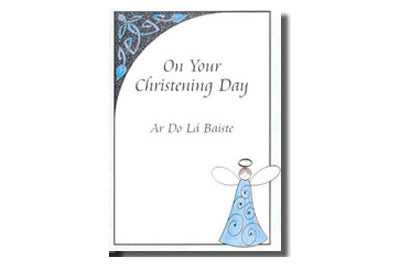 Ar do lá Baiste / On your Christening  (Baptism) Day - Angel - Blue