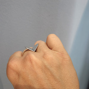 Hearts Folded Ring - Gross
