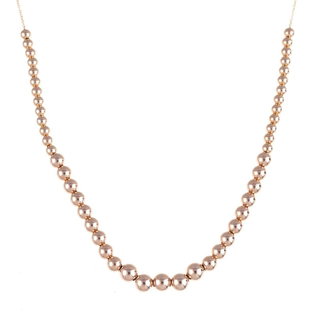 Classic Ascending Bead Necklace on Chain 1