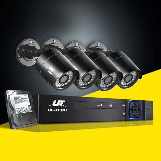 UL-TECH 1080P 4 CHANNEL HDMI CCTV SECURITY CAMERA WITH 1TB HARD DRIVE