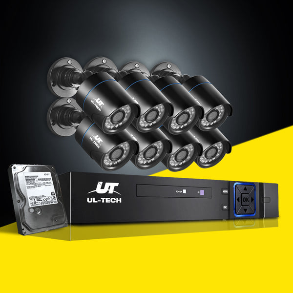 UL-TECH 1080P 8CH 2TB SECURITY SYSTEM WITH 8 CAMERAS