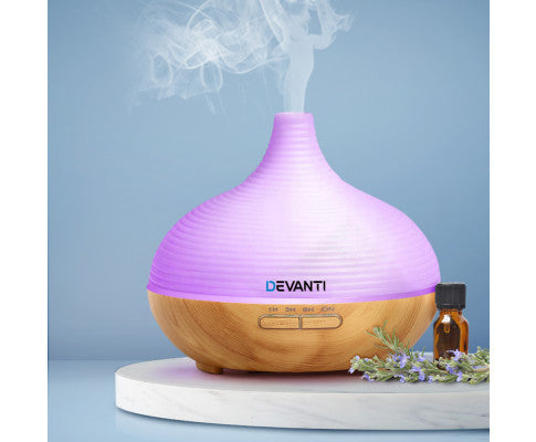 DEVANTI LED 300ML AROMA DIFFUSER AIR HUMIDIFIER NIGHT LIGHT