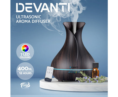 DEVANTI LED 400ML AROMA DIFFUSER AIR HUMIDIFIER