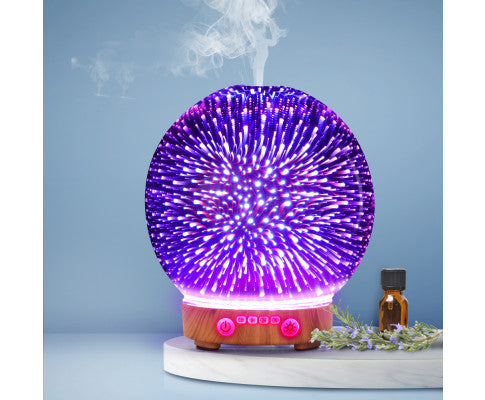DEVANTI 3D LED 110ML AROMA DIFFUSER AIR HUMIDIFIER NIGHT LIGHT