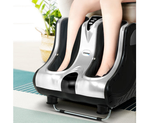 LIVEMOR FOOT ANKLE CALF MASSAGER - SILVER