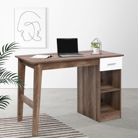 ARTISS SCANDINAVIAN OFFICE DESK WITH SELF AND DRAW