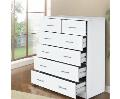 ARTISS 6-DRAWER TALLBOY - WHITE
