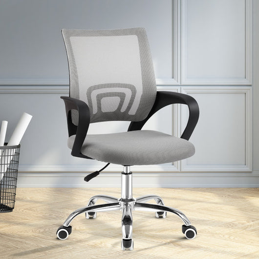 ARTISS OFFICE MID BACK MESH CHAIR - GREY