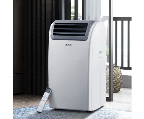 DEVANTI PORTABLE AIR CONDITIONER DEHUMIDIFIER 3300W - WHITE