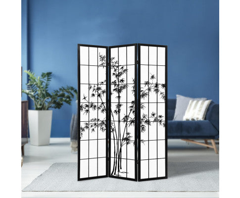 ARTISS SHOJI BAMBOO 3 PANEL ROOM DIVIDER SCREEN