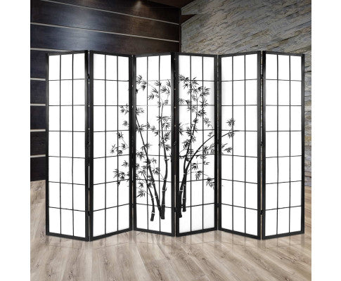 ARTISS SHOJI BAMBOO 6 PANEL ROOM DIVIDER SCREEN