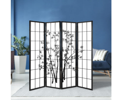 ARTISS SHOJI BAMBOO 4 PANEL ROOM DIVIDER SCREEN