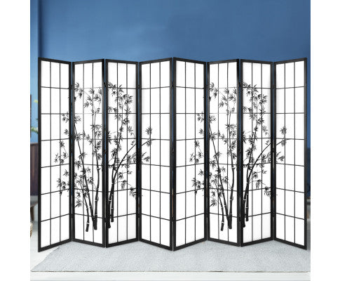 ARTISS SHOJI BAMBOO 8 PANEL ROOM DIVIDER SCREEN
