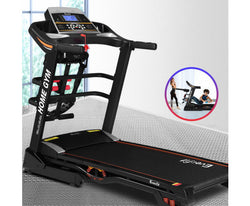 EVERFIT TREADMILL 480MM 18KMH 3.5HP AUTO INCLINE WITH DUMBBELL MASSAGER SIT UP BAR