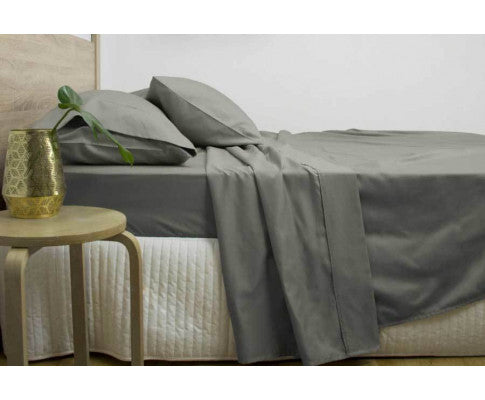 3000TC COTTON RICH SHEET SET SUPER KING - CHARCOAL COLOUR