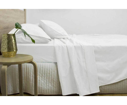 3000TC COTTON RICH SHEET SET SUPER KING - WHITE
